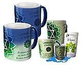 Taza mágica que incluye una taza, infusión, vela Chakra corazón. Al contacto con la bebida caliente, la taza se ilumina asociada a los beneficios del té, para comenzar el día del pie correcto.