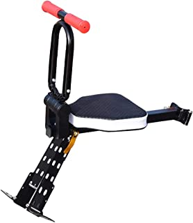 Together-life Front Mounted Child Bike Seats, Foldable Ultralight Baby Kids' Bicycle Carrier with Handrail and Pedal for Mountain Bikes, Hybrid Bikes, Fitness Bikes