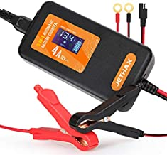 Jethax 12V 4A Smart Car Battery Charger, Fully Automatic 3-in-1 Portable Battery Maintainer and Trickle Charger for Car, Motorcycle, Lawn Mower, Scooter, SUV, ATV