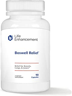Life Enhancement Boswell Relief | Relief for Bowels, Lungs, and Joints | 300 mg Boswellia serrata and 65 mg Curcumin C3 Co...