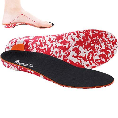 EVERHEALTH Einlegesohlen für Fußgewölbe, Plantarfasziitis, Orthopädische Schuheinlagen, Einlegesohle für Herren Damen, Plattfüße, Hohe Fersensporn, Fußschmerzlinderung