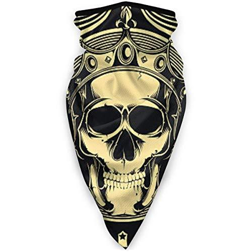 Liuqy Bandeau Banane, Carte à Jouer crâne arrière Multifonctionnel Magique Casque de Moto Demi-Visage Voile Cou Couverture