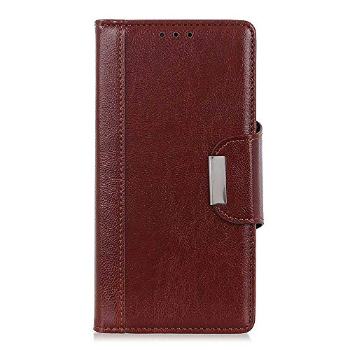 CAXPRO® Leder Hülle für Samsung Galaxy A70, Kratzfestes Tasche Galaxy A70 PU Leder Flip Handyhülle Schutzhülle mit Kartenfach und Standfunktion, Braun