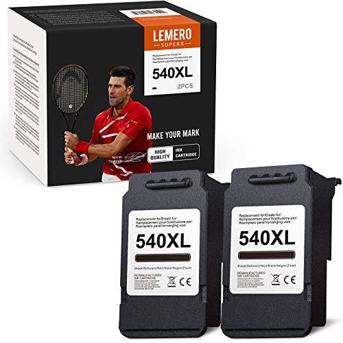 LEMERO SUPERX 540XL Sostituzione Rigenerate per Canon PG-540 XL Cartucce d'inchiostro per Canon Pixma MG3650 MG3550 MG2250 MG3150 MG3600 MG4250 MX375 MX395 MX525 MX535 TS5150 TS5151