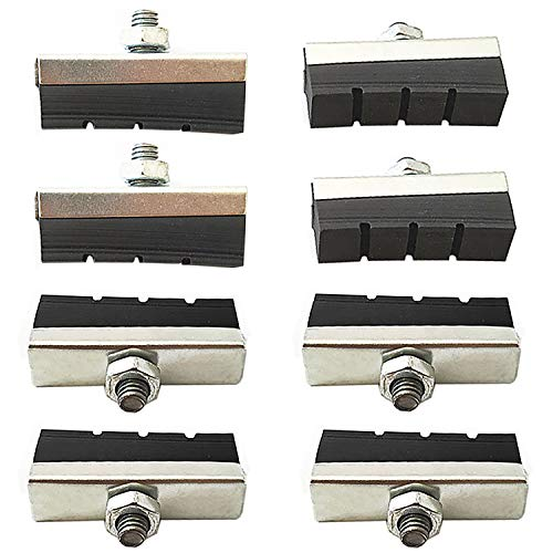 Lomodo 8 Pack Bicycle Brake Rubber Pads Bike Brake Blocks with Bolt for Older Style Road/Mountain/BMX Bikes (1.57 inch x 0.55 inch)
