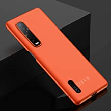 Protective Case for Oppo Find X2 Pro Slim Case Rugged Back Cover Simple Design Hard PC Phone Case for Oppo Find X2 Pro-Orange