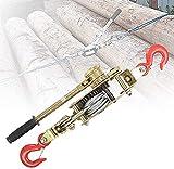HNWTKJ Polipasto de Tracción Resistente, Cabrestante Manual, Cabrestante Portátil, Ideal para Mover Vehículos, Máquinas, Troncos y Otros Objetos Pesados (Size : 3T(10kn))