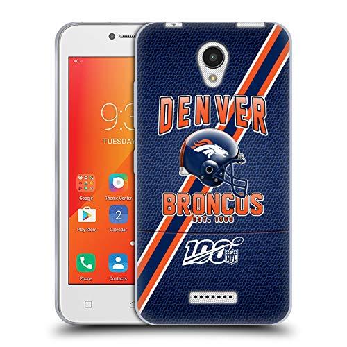 Head Case Designs Oficial NFL Bandas de fútbol 100 2019/20 Denver Broncos Carcasa de Gel de Silicona Compatible con Lenovo A Plus