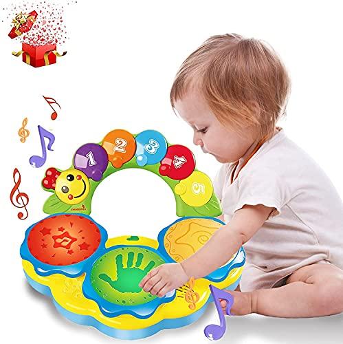 Baby Spielzeug ab 6 9 12 18 Monate Kleinkinder Babyspielzeug 6 bis 12 Monate mit Musik/Licht/lustige Töne kinderspielzeug Geburtstag Weihnachten Geschenk Spielzeug ab 1 2 3 Jahr Jungen Mädchen