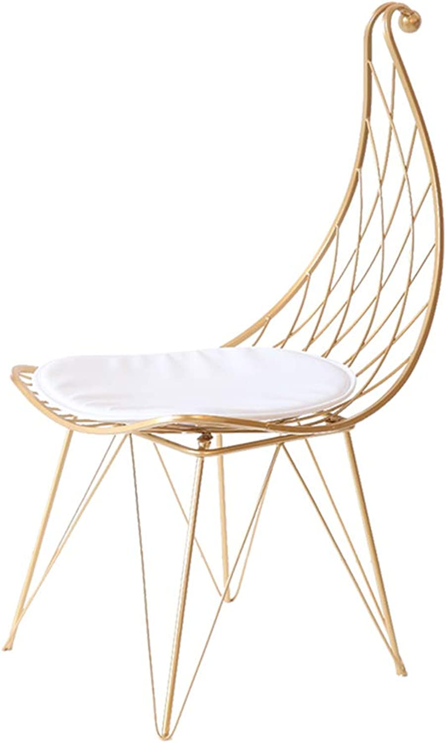 Xiao Mi Guo Ji- Solid Wood Chair - PU Soft Cushion Folding Chair Solid Wood Chair with armrests with backrest Dinette Lounge Chair Assembly Size  55  57  78cm Home Chair