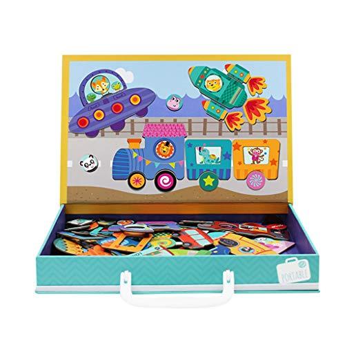Juguetes educativos, Rompecabezas de dinosaurio, Rompecabezas de madera, 60 piezas, rompecabezas para niños de 3 años+Dino Juguetes para niños, juegos de inteligencia cerebral juguete de rompecabezas