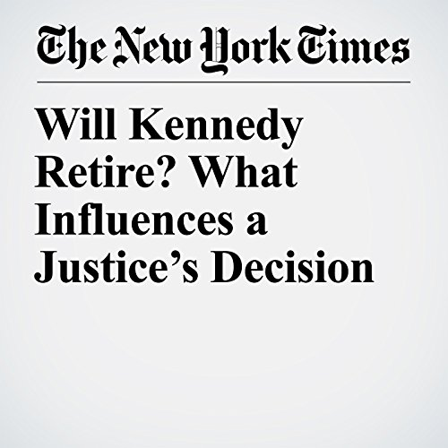 Will Kennedy Retire? What Influences a Justice's Decision copertina