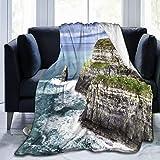 Nongmei Manta de Tiro Personalizada,Acantilado de Moher,Manta de Felpa Suave para sofá,Dormitorio,Viaje,Manta mullida 50'X60'