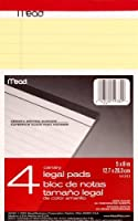 Mead Canary Junior Legal Pads 5 x 8 Inch 4 Pack 50 Sheets (59382) [並行輸入品]