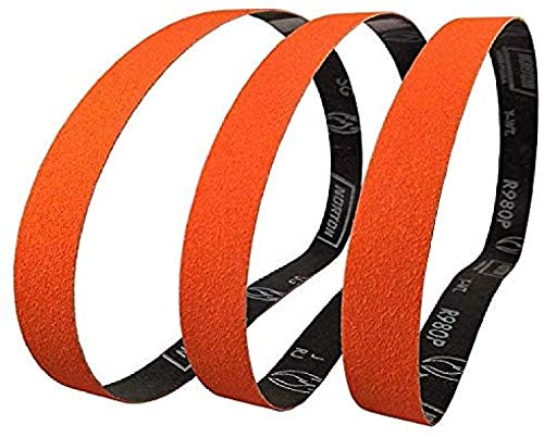 Norton SG Blaze Plus 1x30 40 Grit Ceramic Sanding Sharpening Belts 3 Pk Long Lasting