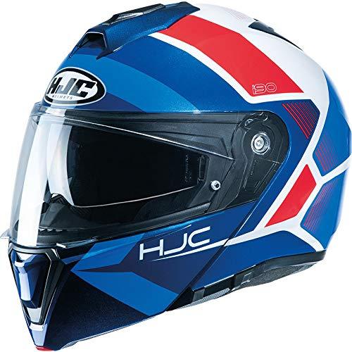HJC I90 Hollen Motorradhelm mit Klapphelm XXL rot / weiß / blau