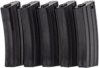 Valken Airsoft M4 Mid-CAP Thermold Magazine, 140rd(5 Pack)-Black
