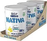 Nativa 1 - Leche para lactantes en polvo, fórmula Para bebés, desde el primer día 3x800g