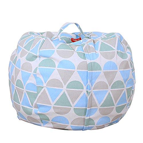 Sulifor Hause Spielzeug Aufbewahrungstasche Kinder plüsch Tier plüsch Spielzeug lagerung Bean Bag weiche Tasche Streifen Stuhl