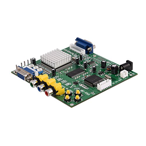 Hakeeta HD Game Video Converter Board für CRT-LCD-PDP-Monitor, CGA/EGA/YUV/RGB zu VGA-Arcade, Unterstützung der Bildsteuerung, 3 Anschlüsse, einfache Installation, geringes Gewicht