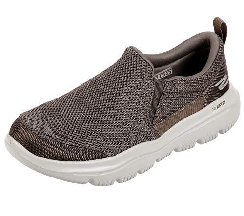 Skechers Men's GO Walk Evolution Ultra-Impeccable Sneaker, Khaki, 11