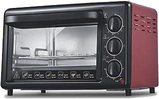 Horno eléctrico multifunción 20L, horno, hogar/pizza/máquina de pan/horno de pizza, 1200W-red