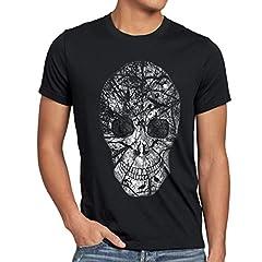 style3 Nature Skull Camiseta para Hombre T-Shirt Calavera