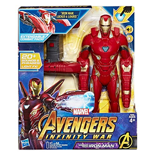 Marvel Hasbro Avengers – Infinity War Iron Man Mission Tech Titan Hero con Accesorio, diseño, Action Figure