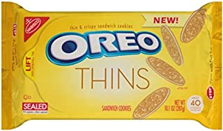 Oreo Thins Golden Sandwich Cookies, 10.1 Ounce 2 Pack