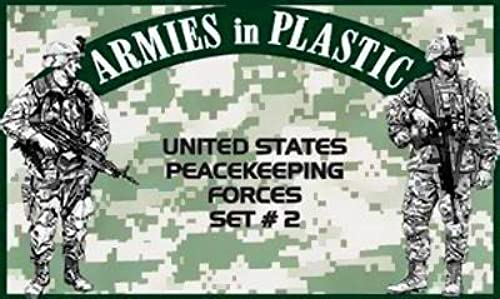 Armies in Plastic United States Peacekeeping Force Set  2 Offerojo By Classic Toy Soldiers, Inc by Classic Toy Soldiers, Inc