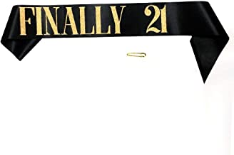 Amazon com: 21st birthday sash