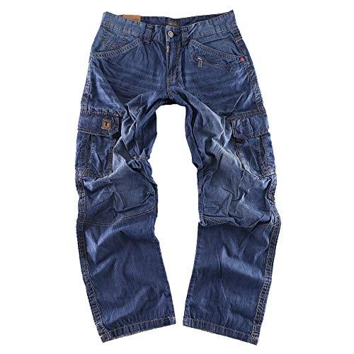 Timezone Herren Relaxed Hose BenitoTZ 3131 Denim Cargo Pants W36/L34