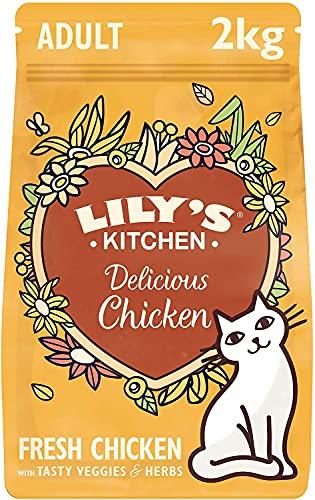 Lily's Kitchen Delicious Chicken Cibo Secco per Gatti, Pollo, 2 kg