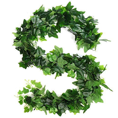 5 Pack Large Fake Ivy,36.25Ft Vines for Bedroom Aesthetic Artificial UV Resistant Fake Vines Ivy Garland Room Decor for Christmas Wedding Engagement Party Garden Wall Office Indoor Outdoor