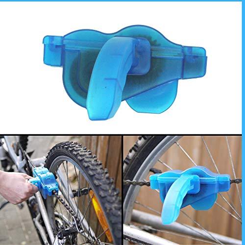 Fahrradkettenreinigungsgerät mit Haltegriff, zur regelmäßigen Pflege der Kettenglieder, für Mountainbike, Citybike, Trekking Rad, Fahrrad Kettenbürste, Reinigungsbürste, Kettenreinigungsset