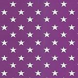 Swafing GmbH Jersey Sterne violett - Stoff - Meterware -