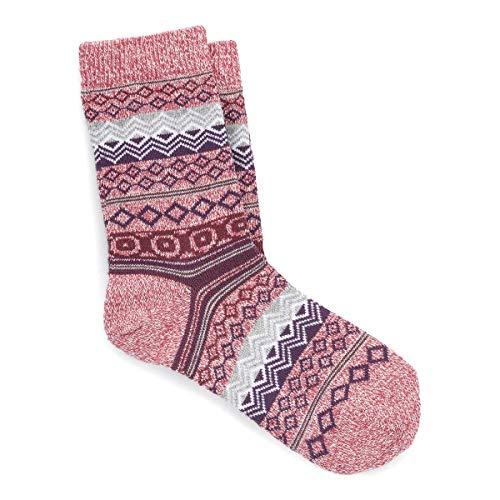 BIRKENSTOCK Cotton Jaquard W Damen Socken aus hochwertiger Wollmischung,perfekte Passform,flache Spitze,Faded Rosed, EU 39-41