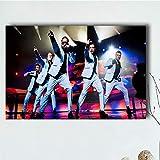 NOVELOVE Backstreet Boys Grupo de música para Hombres Póster Pintura en Lienzo Impresión en HD Imágenes artísticas de Pared Regalo Decorativo Decoración para el hogar Sin Marco(50 * 75 cm)