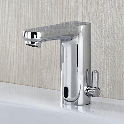 Grohe – Infrarot-Waschtisch-Sensorarmatur, Temperaturregler, mit Batterieversorgung, Chrom, Eurosmart CE - 3