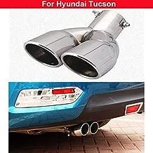 Neu Edelstahl Auspuff Endschalldämpfer Endrohr für Hyundai ix35 Tucson 2010