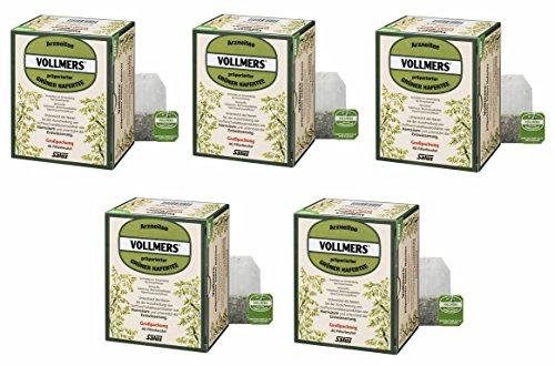 5 X Salus Vollmers präparierter Grüner Hafertee N - 40 Filterbeutel