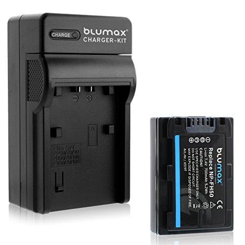 Blumax NP-FH50 700mAh + Ladegerät NP-FH50   passend zu diversen Sony Kameras