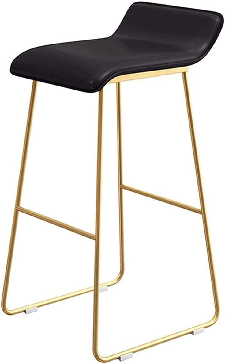 LSLY Barstool Breakfast High Easy-to-use Chair with Legs Metal and Gold L PU Cheap mail order shopping