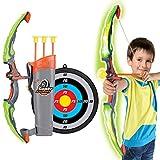 JUSTDOLIFE Toy Archery Set Creative Light up Ventosas Arrow Arrow y Arrow Set para niños
