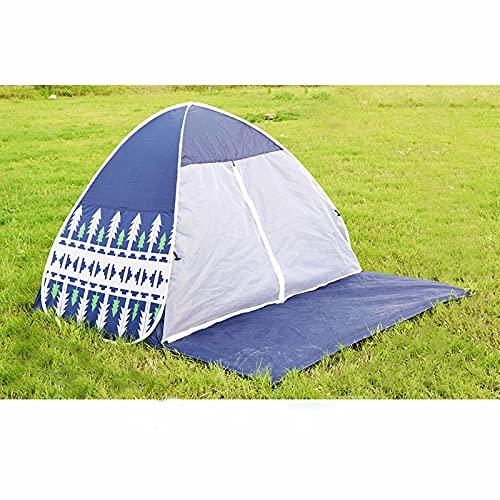 ZHHL Carpa De Sombra De Playa a Prueba De Mosquitos Al Aire Libre, Conveniente para Acampar, Carpa De Pesca, Picnic En El Parque, Carpa Libre De Apertura Rápida Blue