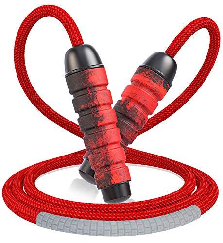Cocoda Springseil Erwachsene, Gewirr-frei Seilspringen mit kugellager, Verstellbar Beständig Jump Rope mit Tragtasche für Kinder Damen, Ideal für Training Fitness Crossfit Boxen