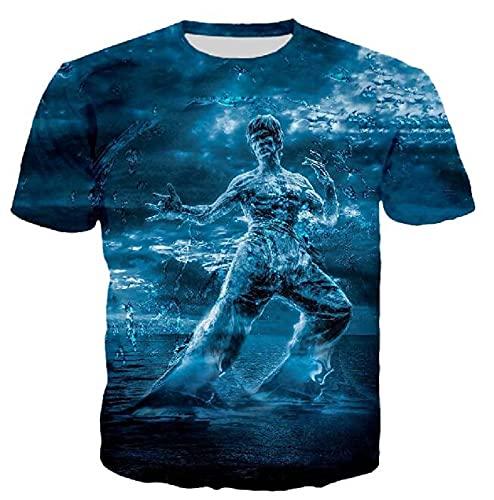 Camiseta con Estampado De Bruce Lee para Hombre, Camisetas De Artes Marciales De Gimnasio De Entrenamiento De Karate, Camisetas De Manga Corta con Estampado 3D De Moda De Bruce Lee Color5 XL