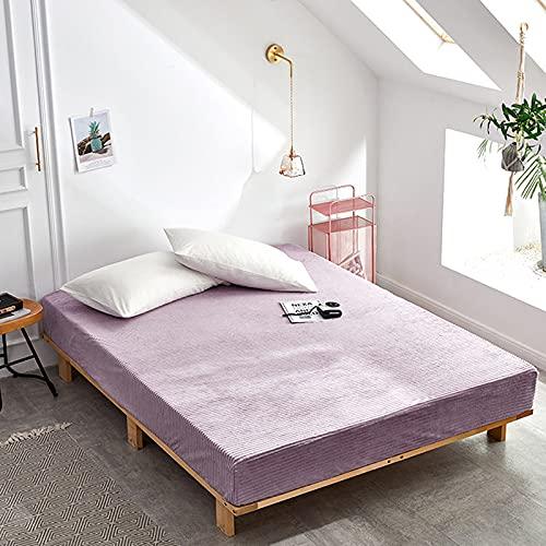 HAIBA Sábanas bajeras lisas térmicas cálidas suaves y lujosas cuatro esquinas con cinturón elástico funda de colchón, rosa, 48 x 74 cm