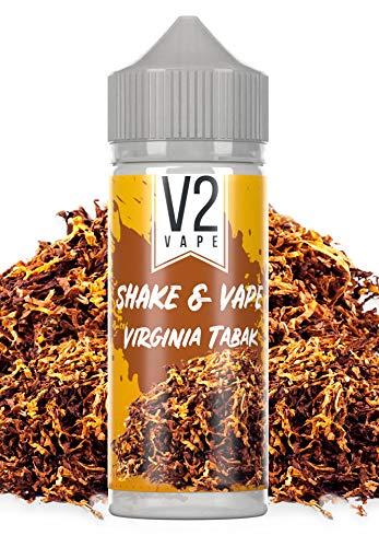V2 Vape Virginia Shake and Vape hochdosiertes Premium Aroma-Konzentrat zum selber mischen mit Base. Zum direkt dampfen ? ohne Reifezeit 20ml 0mg nikotinfrei