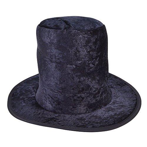Bristol Novelty Chapeau haut-de-forme BH560 Pour enfant - En velours noir - Taille unique
